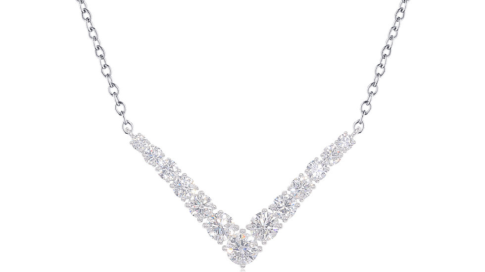 V shaped Diamond necklace