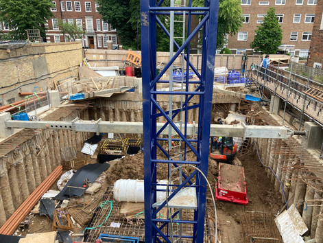Temporary works in St John's Wood