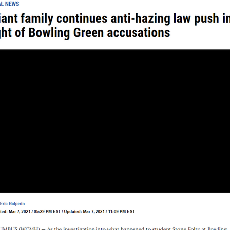 nbc4i - Wiant family continues anti-hazing law push in light of Bowling Green accusations