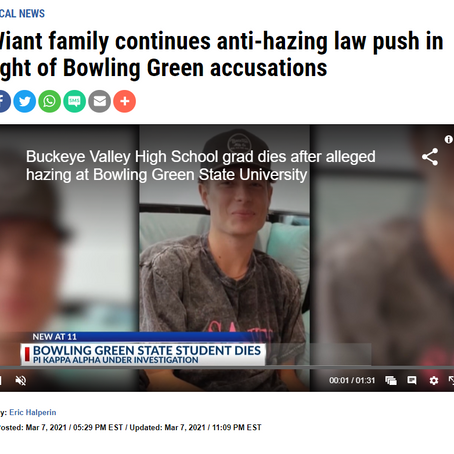 nbc4i.com - Wiant family continues anti-hazing law push in light of Bowling Green accusations