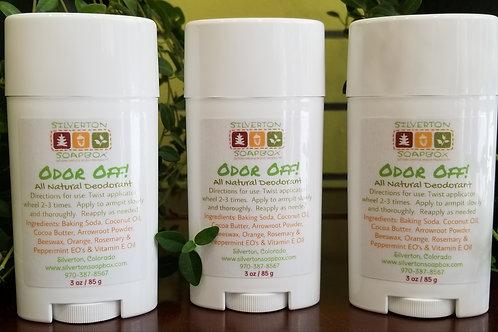 Odor Off!  Natural Deodorant