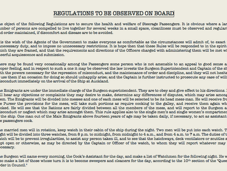 Rules of Conduct Onboard a Tall Ship in 1882