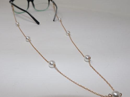 Cadena para lentes con perlas
