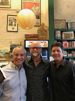 With some of my former college buddies at Off Square Books.