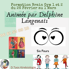 Formation Brain Gym delphine langenais s