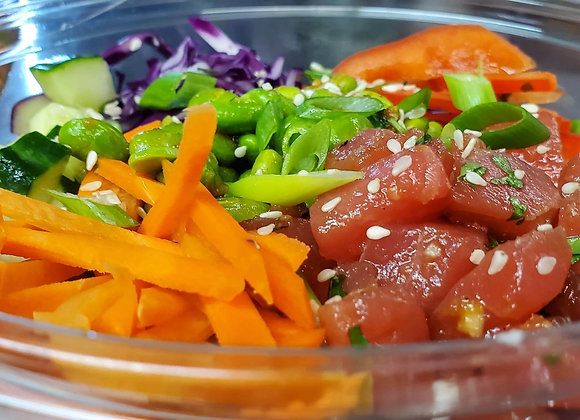Protein Poke Bowl - Raw Salmon