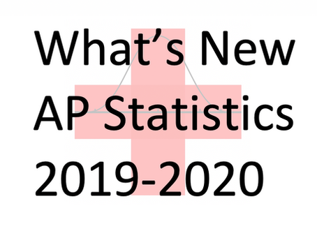 What's New from College Board for AP Statistics in 2019-2020