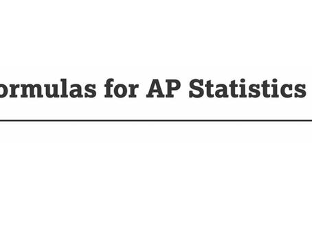 A New Formula Sheet for the AP Statistics Exam