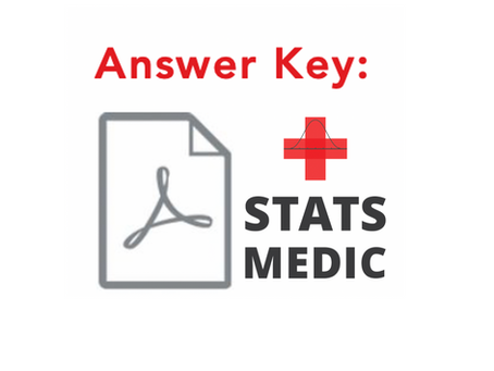 How to Use a Stats Medic Answer Key