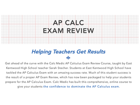 How to Use the Calc Medic AP Exam Review Course