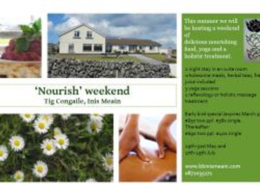 Nourish, Yoga, Massage Weekend, Inis Maan