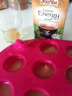 Iced green tea cocunut water