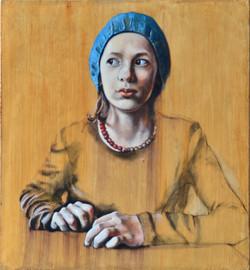 Kind mit blauer Mütze