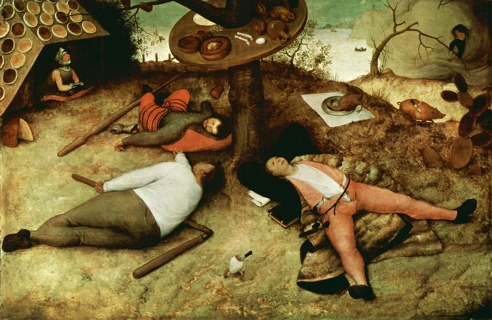 O País da Cocanha. Pieter Bruegel, 1567.