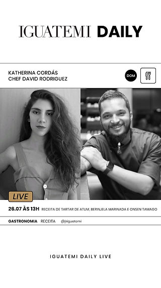 Katherina Cordás Iguatemi Receita Tartar de atum chef David Rodriguez Imakay