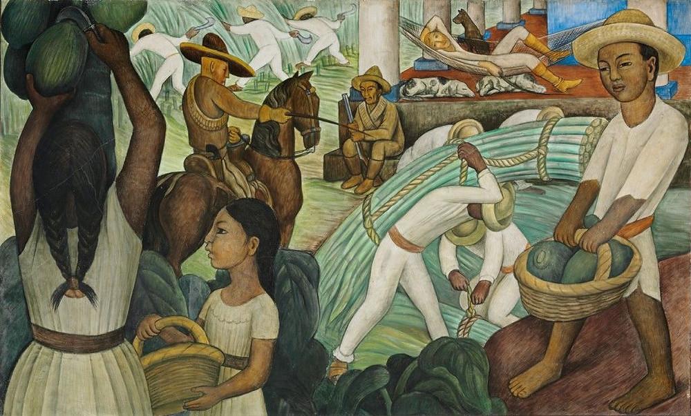 Mural Cana de Açúcar, Diego Rivera, 1931
