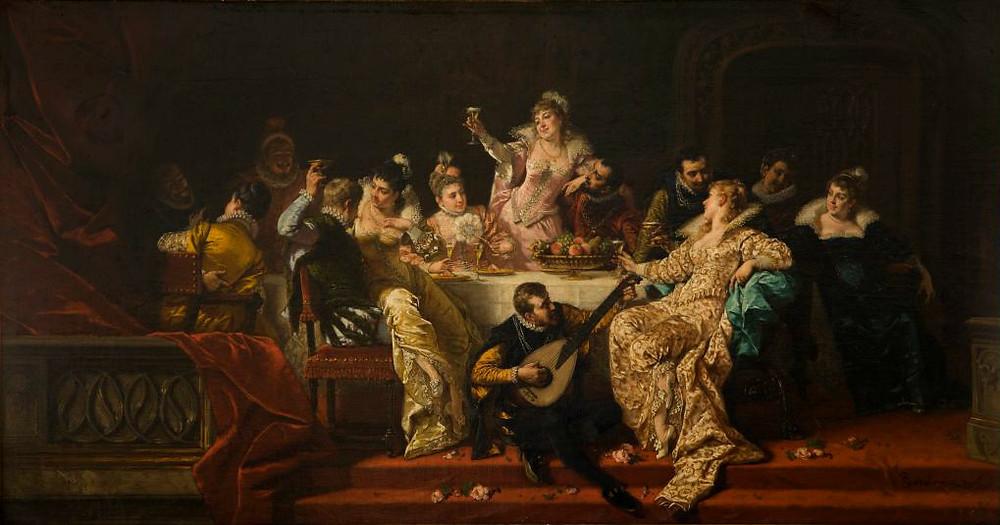 Władysław Bakałowicz. Banquete Renascentista, 1883