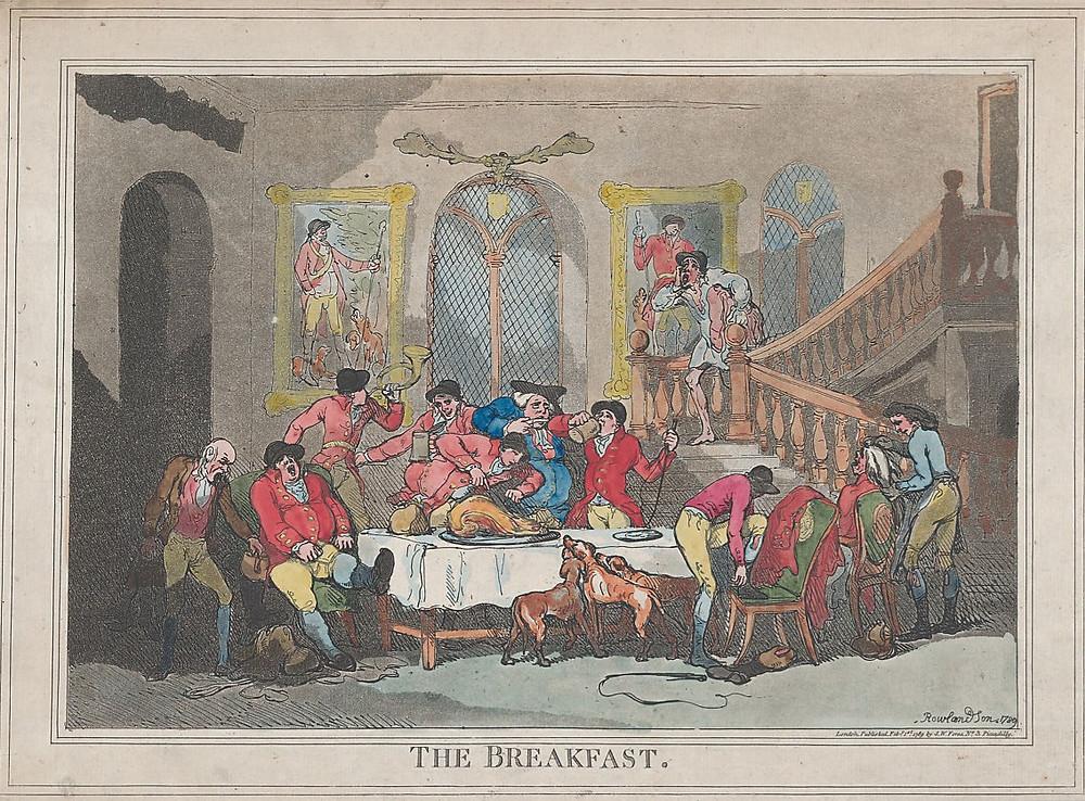 O Café da Manhã. Thomas Rowlandson, 1789.
