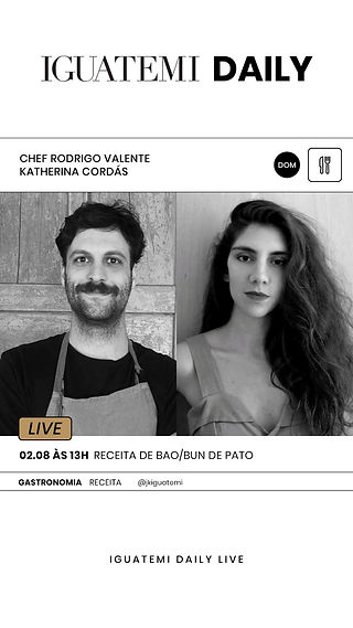 Katherina Cordás Iguatemi Receita Bao Bun chef Rodrigo Valente