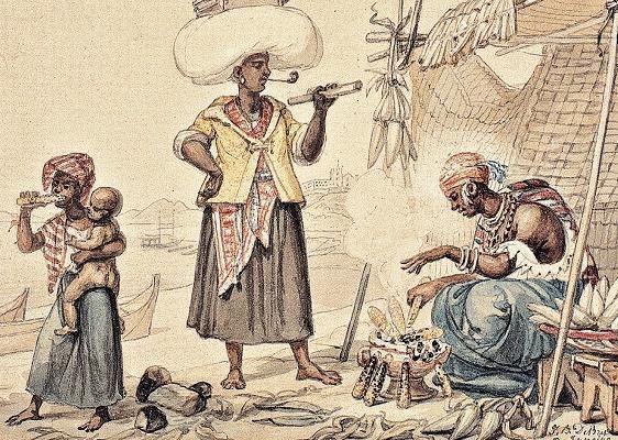 Jean-Baptiste Debret. Vendedoras de Milho Verde, c.1825