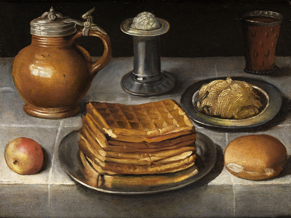 Natureza Morta com Waffles. Georg Flegel, séc. XVII