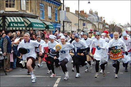 Olney Pancake Race, Buckinghamshire, Inglaterra