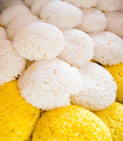 Cuscuz de arroz e milho. Cuscuz do Norte, Maceió, Alagoas. Foto: Jonathan Lins/G1