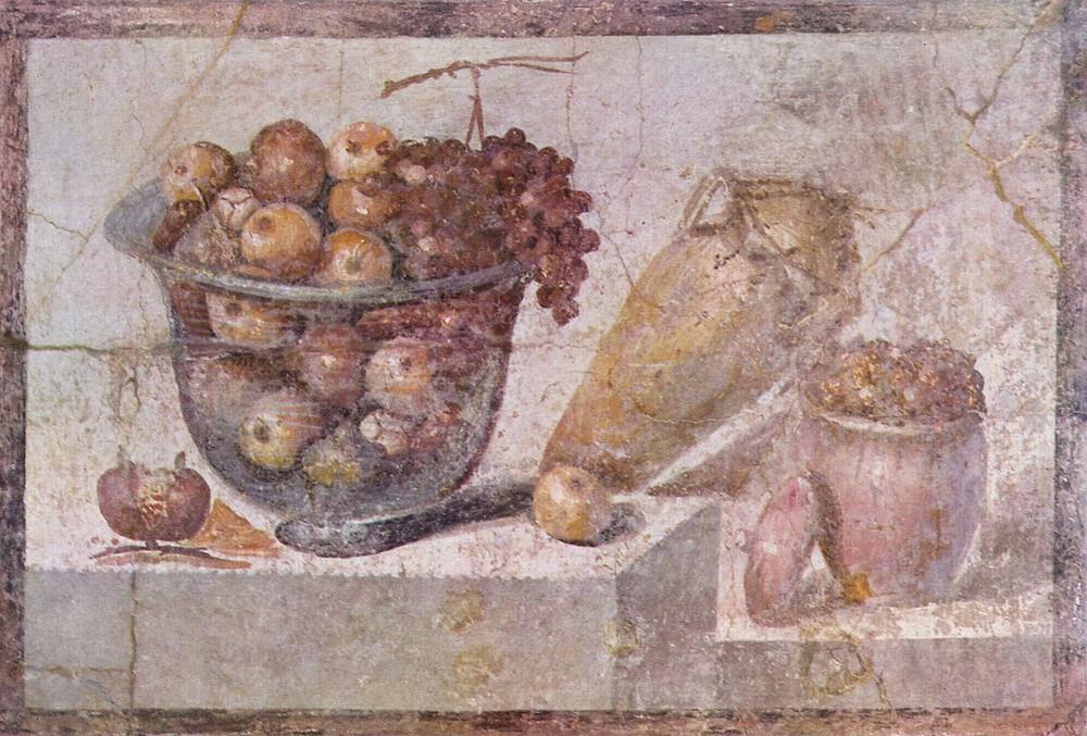 Natureza morta. Afresco de Pompeia, c. 70 d.C.