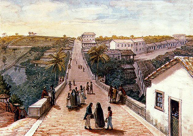 Ponte de Santa Ifigênia. Jean-Baptiste Debret, 1827