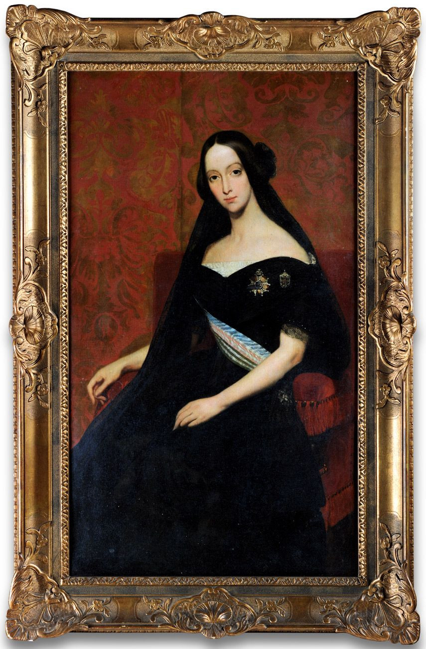 Francisca de Bragança, Princesa de Joinville, de luto pelo sogro, o rei da França Louis Philippe I, em 26 de agosto de 1850