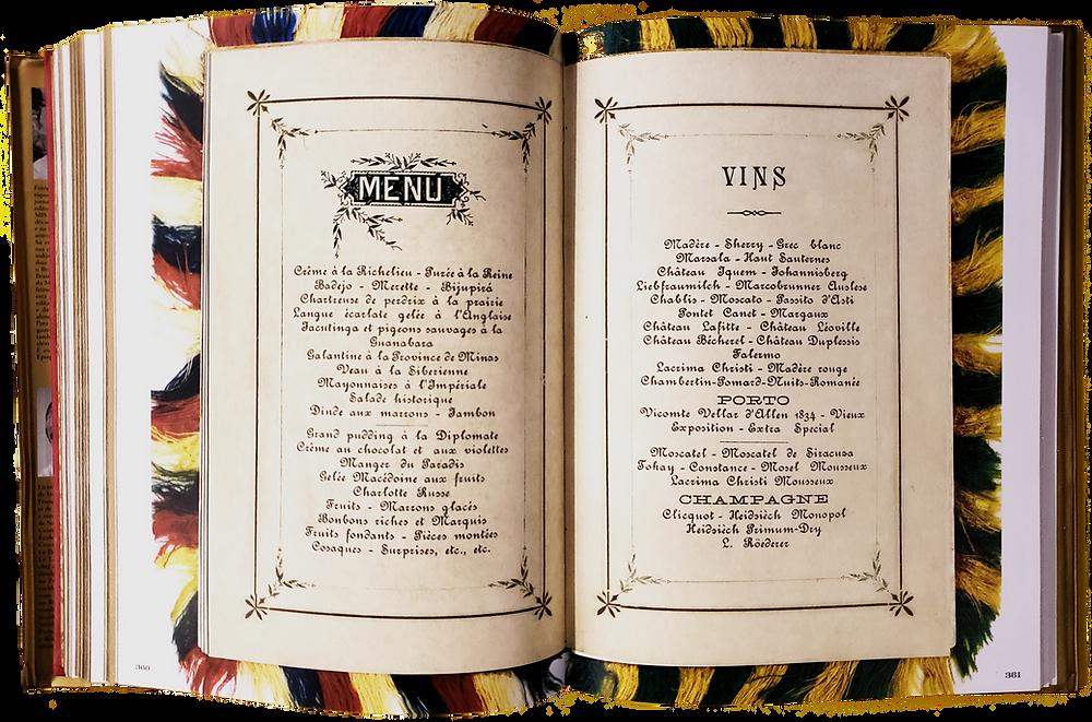 Cardápio do Baile da Ilha Fiscal, 1889