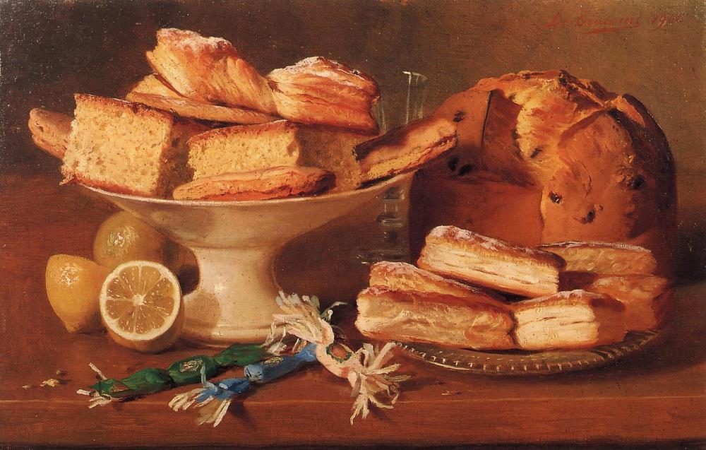 Composizione di dolci e limoni, Eugenio De Giacomi (1852-1917)