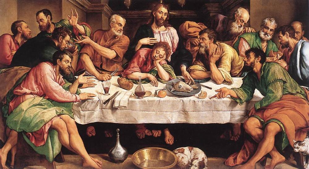 Santa Ceia. Jacopo Bassano, 1542.