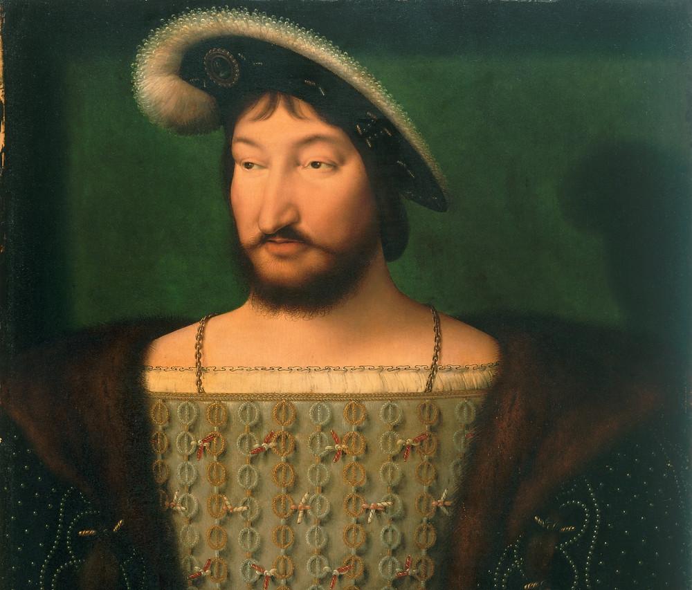Retrato de Francisco I da França, Joos van Cleve, c. 1532-1533.