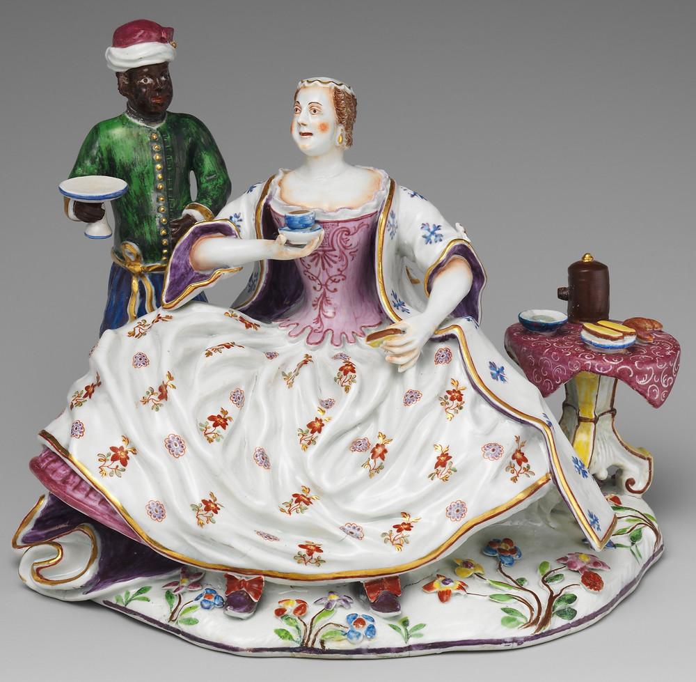 Dama em seu Café da Manhã. Viena, 1737–44.
