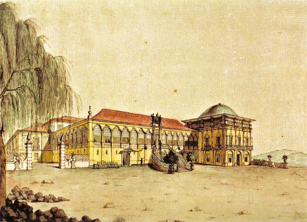 Palácio de São Cristóvão, Quinta da Boa Vista. Jean-Baptiste Debret, 1817