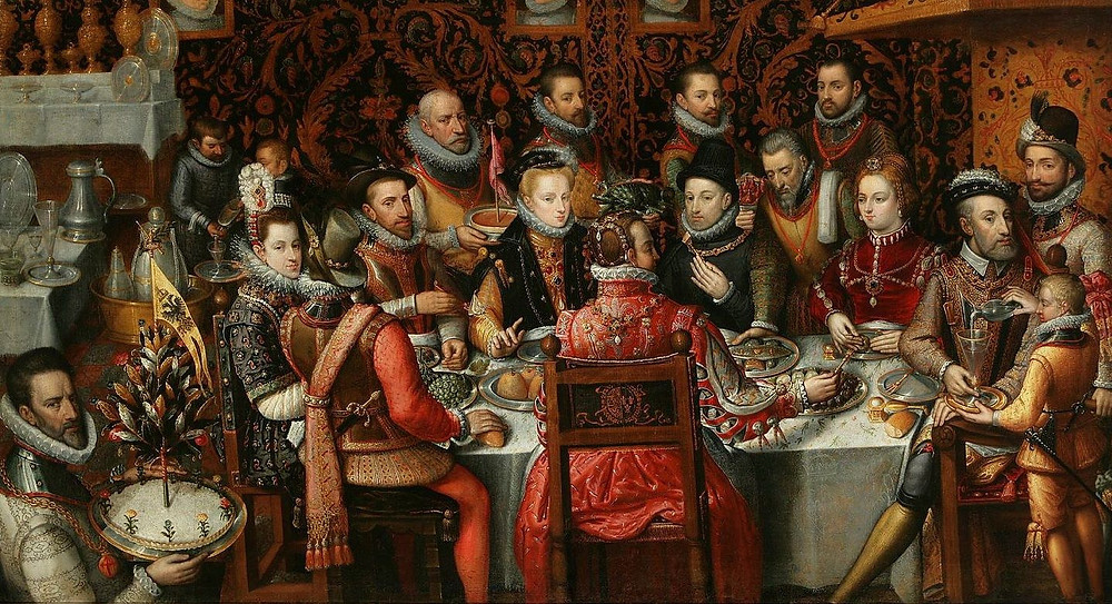 Royal feast. Alonso Sánchez Coello, 1579.