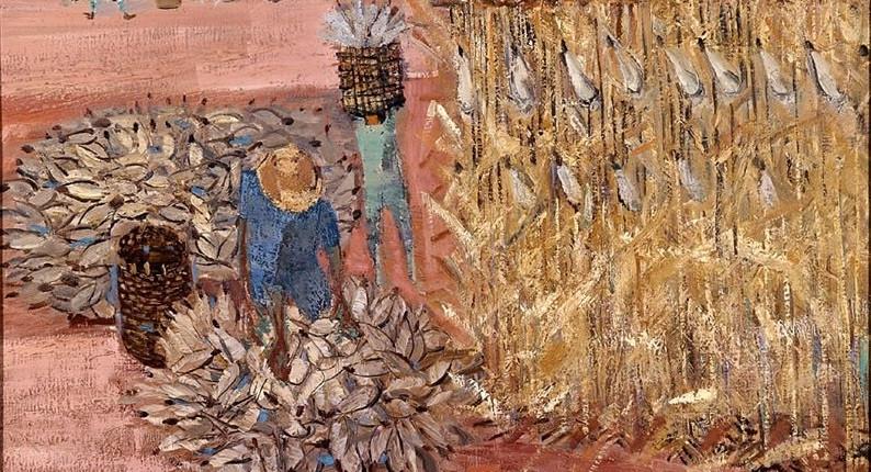 Candido Portinari. Colheita de milho, 1959