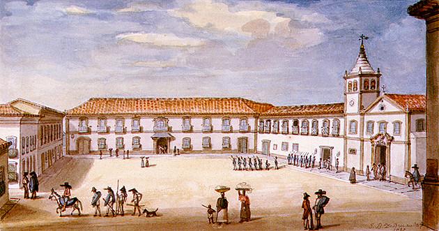 Palácio do Governo em São Paulo. Jean-Baptiste Debret, 1827