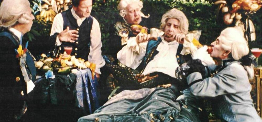 Marco Nanini como Dom João VI   Still do filme Carlota Joaquina, Princesa do Brasil (1995)