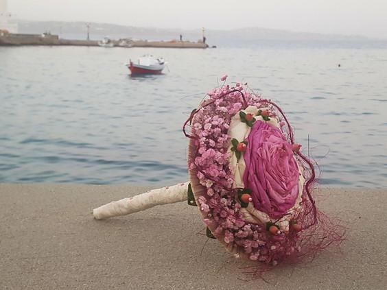 Νυφικό μπουκέτο glamelia