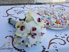 Νυφική ανθοδέσμη γάμου με φαλαινόψις