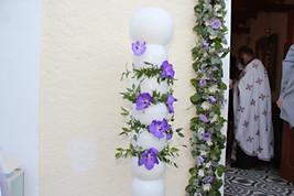 Λαμπάδες γάμου με ορχιδέες βάντα