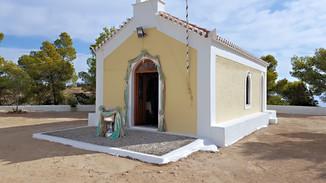 Διακόσμηση βάπτισης σε λευκό - μπεζ - γαλάζιο