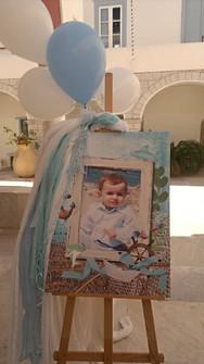 Πορτρέτο βάπτισης σε καμβά