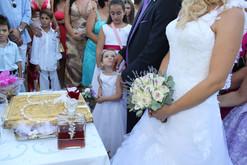 Ανθοδέσμη γάμου με παλ τριαντάφυλλα και λεβάντα