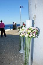 Λαμπάδες γάμου με τριαντάφυλλα και ορχιδέες