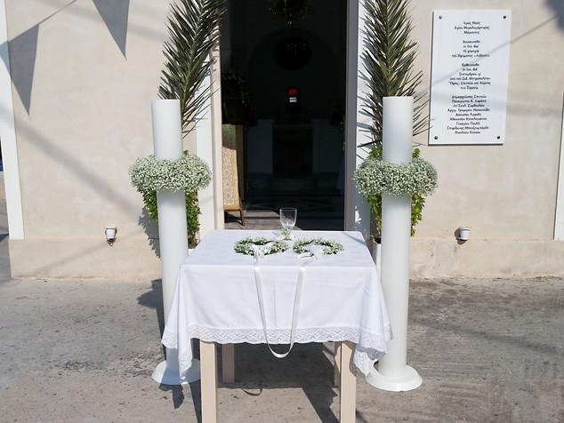 Λαμπάδες γάμου με γυψόφυλλο