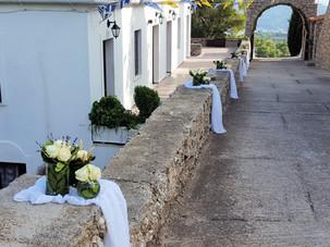 Διακόσμηση γάμου στην Μονή Παναγίας Γοργοεπηκόου Σπετσών