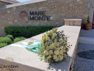 Νυφική ανθοδέσμη γάμου με τριαντάφυλλα και λεβάντα